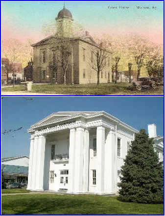 Gallatin KY Court House Then & Now